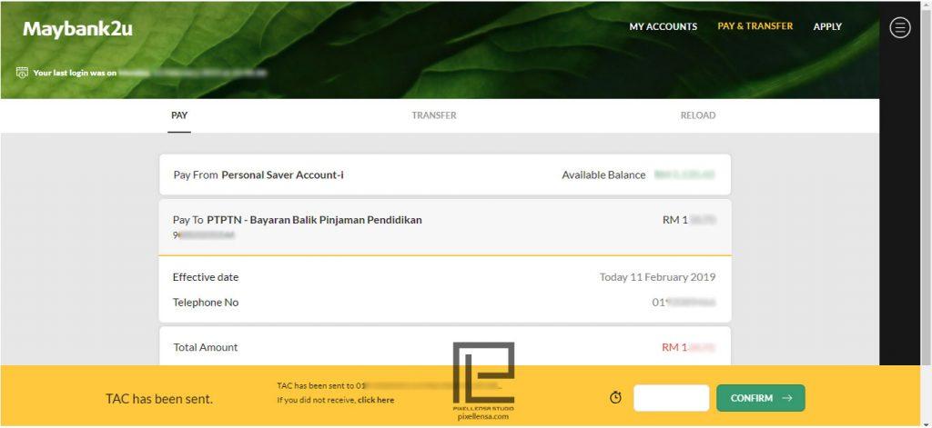 Cara Bayar Ptptn Secara Online Mengunakan Maybank2u Pixellensa Studio
