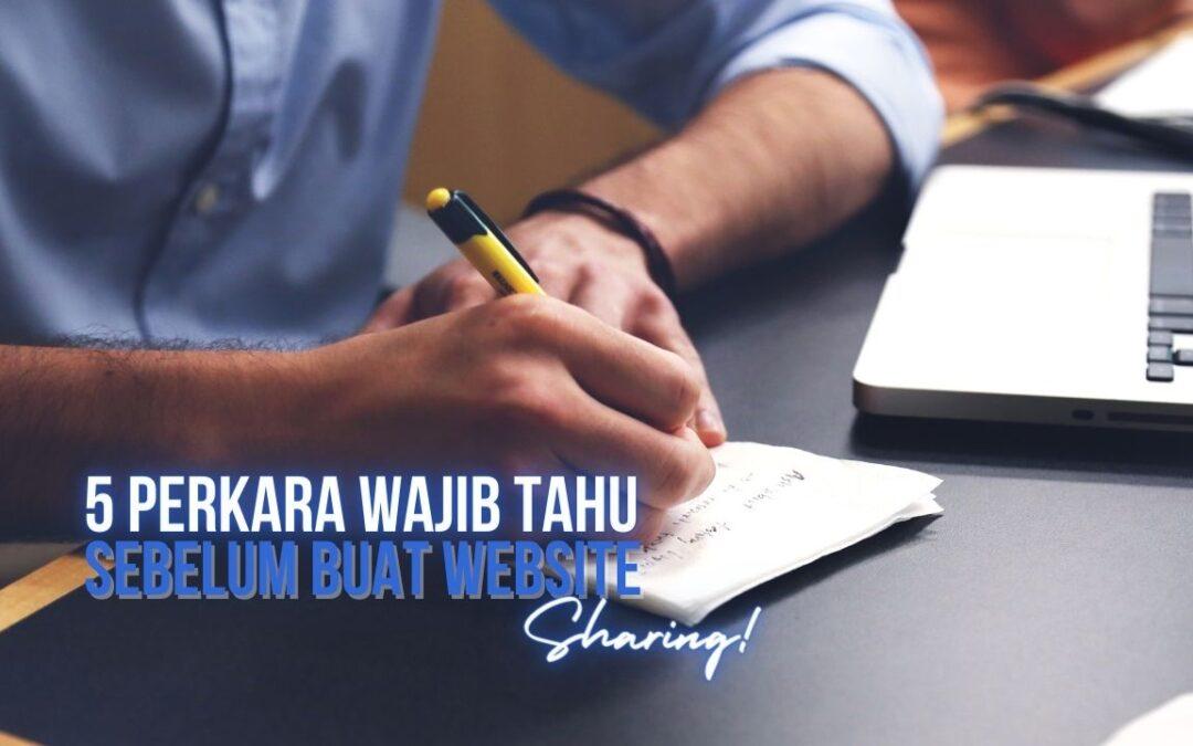 5 Perkara Wajib Tahu Sebelum Buat Website-pixellensa-studio